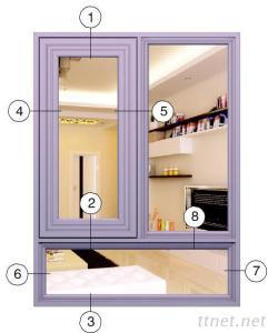 Xingfa Side-Hung Windows Series P55B
