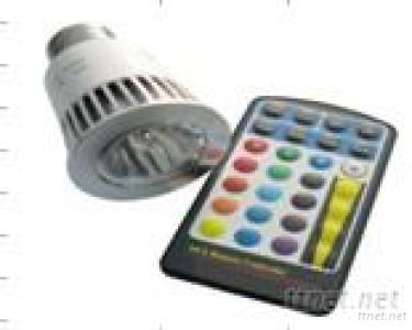 E27 5W RGB LED Spotlight with Remote Controller