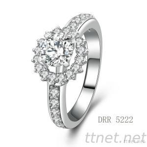 Light Weight Hot Sale Ring 925 Sterling Silver Engagement Ring With CZ