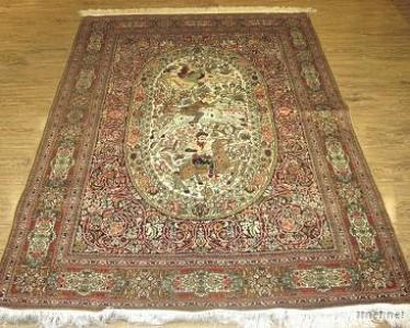 Hand Made Knotted Pure Silk Carpet