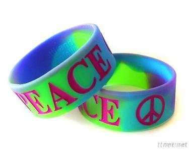 Fashion Color With Your Own Style On Silicone Wristband