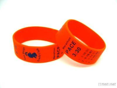 Silicone Wristband With Any Logo To No Minum Order