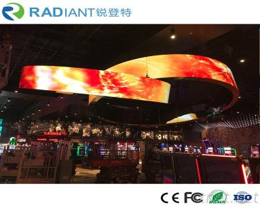 P3 Indoor Rubber Cylinder Advertising Flexible LED Screen