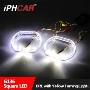 IPHCAR Dual Color Led Angel Eye Double Color Crystal Led Halo Ring