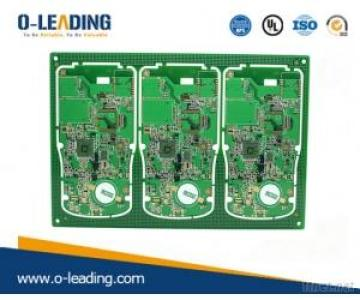Multi-layer PCB manufacturer in China, 10L Immersion Gold board, 2.4mm board thickness,Apply for Industry control products