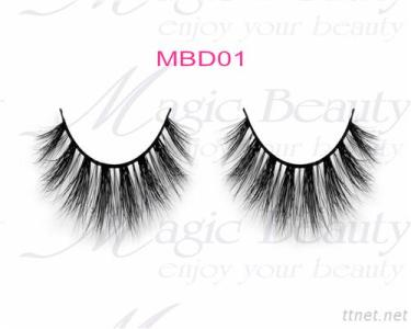 OEM Cruelty-Free 3D Mink Individual Lashes Mbd01 Black/Clear Band Available