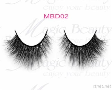 OEM Cruelty-Free 3D Mink Individual Lashes Mbd02 Black/Clear Band Available
