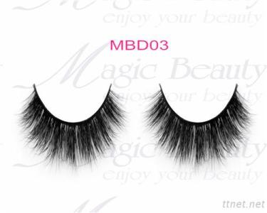 OEM Cruelty-Free 3D Mink Individual Lashes Mbd03 Black/Clear Band Available