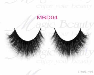 OEM Cruelty-Free 3D Mink Individual Lashes Mbd04 Black/Clear Band Available