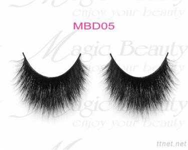 OEM Cruelty-Free 3D Mink Individual Lashes Mbd05 Black/Clear Band Available