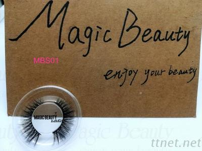 OEM 3D Silk Individual Lashes Mbs01 Black/Clear Band Available