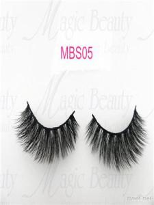 OEM Korea PBT Fiber 3D Silk Individual Lashes Mbs05 Black/Clear Band Available