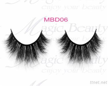 OEM Cruelty-Free 3D Mink Individual Lashes Mbd06 Black/Clear Band Available
