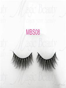 Hand made 3D Silk Lashes individual reusable lashes MBS08