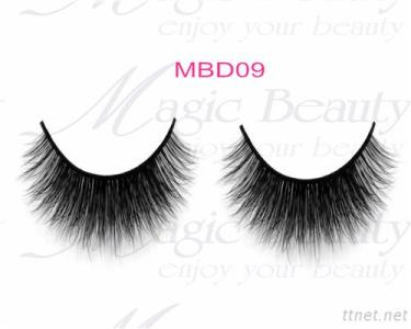 Private Lable Real Siberian 3D Mink Fur Lashes Individual Makeup MBD09