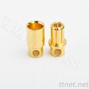 6.0Mm Gold Plated Bullet Connectors, R/C Connector