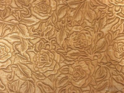Classical Flower Embossed PU Material Leather With Two-Tone Effects