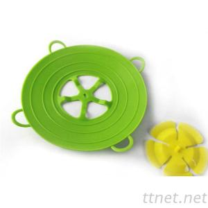 Cookware Lids 13 Inch Useful Multi-function Silicone Spill Stopper Lid Kitchen Utensils Pan Cooking Tools Flower Cookware Parts