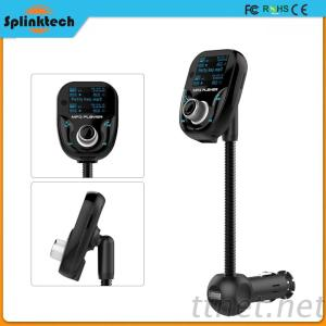 Travel Bluetooth FM Transmitter Car Charger Kit With MP3 Radio SD Card Function, Dual Usb Port Car Charger