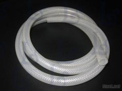 Food-Grade Braided Rubber Hose, Reinforced Silicone Rubber Tube