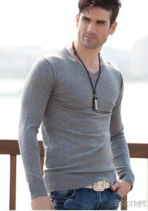 Men'S O-Neck Knitted Pullover, Sweater