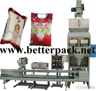 Automatic Sugar Rice Beans Weighing Packing Line