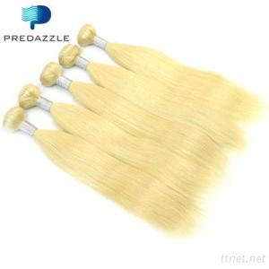 Blonde Color Brazilian Virgin Soft Hair Weft Straight
