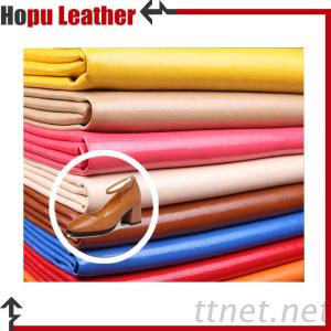 Faux PU Printing Fabrics Tech Leather for Shos Lining
