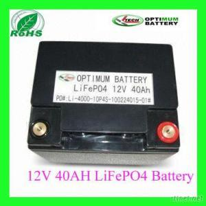 Rechargeable Lithium 12V40Ah Battery
