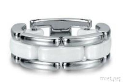 Fashion Stainless Steel & Ceramic Rings