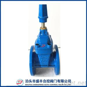 DIN F4 resilient seated  ductile iron gate valve