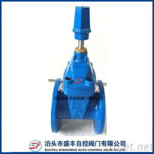 DIN F4 Resilient Seated Gate Valve With Ductile Iron Material