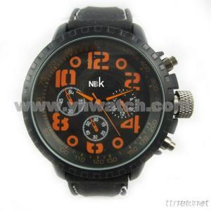 Silicone Strap Alloy Wrist Watch