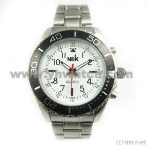 Alloy Case With Stainless Steel Band Watch