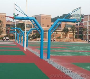 Custom Print Outdoor Basketball Stand, In-Ground Basketball, Ground Buried Basketball Stand