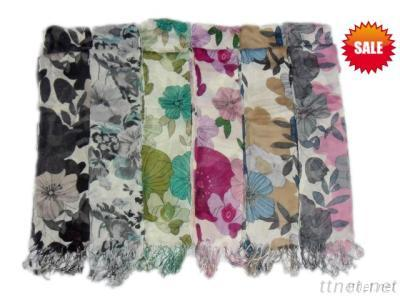 2012 Newest Fashion Hijab With Flower Design Scarf