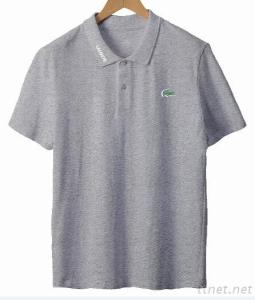 Polo Shirt With Embroidery Patch Effect