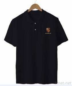 Polo Shirt With Metal Effect And Soft PU High Density