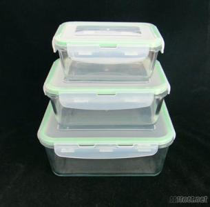Airtight Glass Food Storage Container With PP Lid