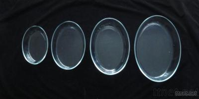 Oval Borosilicate Glass Baking Dish