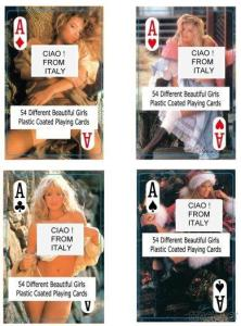 Nude Female Playing Cards -Italy