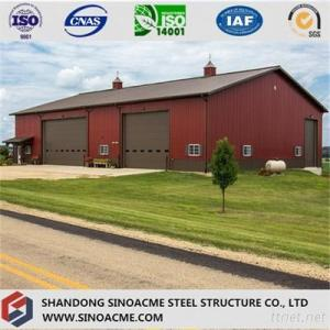 Portal Frame Steel Construction Warehouse For Vehicle