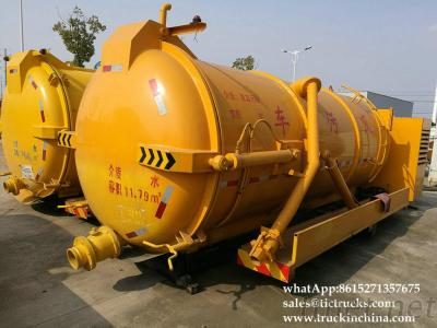Vacuum Tank Body 10Cbm For Hongkong