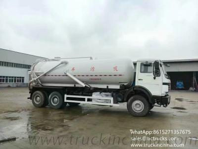 Off Road 6X6 Vacuum Sewage Tanker Beiben Truck For Sale