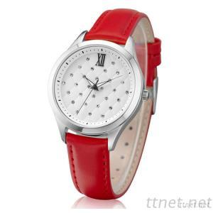 Leather Band Fashion Watches For Ladies For Christmas Gift