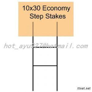 Metal Wire Stake Signs, Yard Sign Stake