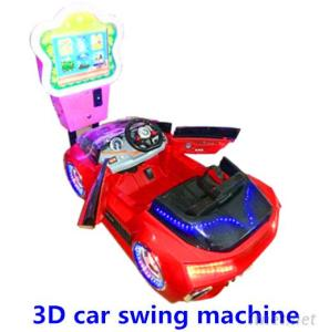 Newest Coin Operated Kiddie Rides Car 3D Swing Machine For Kids