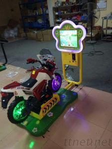 Kids Coin Operated Games 3D Video Motorcycle Swing Machine