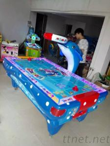 Dolphin Air Hockey Game Table Machine, Indoor Amusement Games Arcade Game