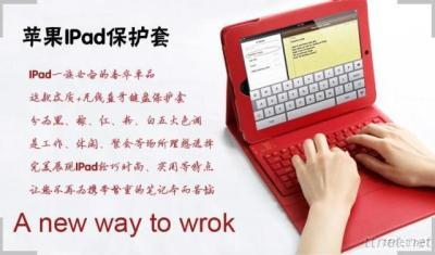 Bluetooth Keyboard With Protective PU Leather Case